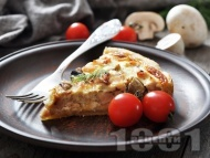 Гъбен пирог с яйца, прясно мляко и бекон